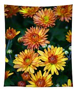 First Fall Mums Tapestry