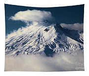 First Snow At Mt St Helens Tapestry