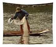 Fisherman Mekong 2 Tapestry
