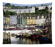 Fishing Boats Moored At A Harbor, Cobh Tapestry