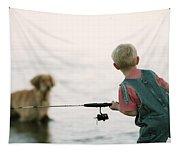 Fishing Boy Tapestry