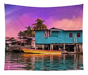 Fishing Camp Twilight Tapestry