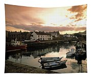 Fishing Village In Ireland Tapestry