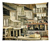Fishing Village Tapestry