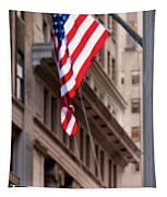 Flag On Broadway Tapestry