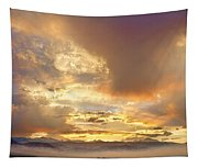 Flagstaff Fire Sky Boulder Colorado Tapestry