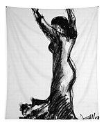 Flamenco Sketch 3 Tapestry
