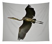 Flight Of The Great Blue Heron Tapestry