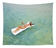 Floating At Sea Tapestry