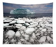 Floating Ice Shattered From Iceberg Tapestry