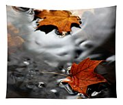 Floating Maple Leaves Tapestry