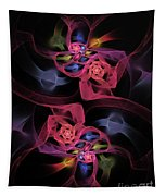 Floral Rose Edgy Abstract Tapestry