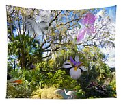 Florida Collage Tapestry