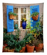 Flower Pots Galore Tapestry