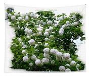 Flowering Snowball Shrub Tapestry