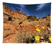 Flowers And Canyons Tapestry
