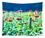 Flowers Everywhere Tapestry