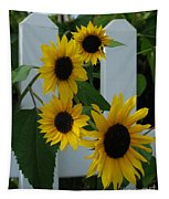 Flowers On A Fence Tapestry