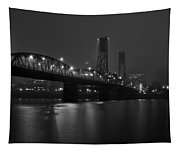 Foggy Portland Night Tapestry