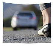 Foot And Car Tapestry