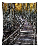 Footpath In Mangrove Forest Tapestry