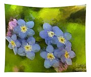Forget-me-not Flower Tapestry