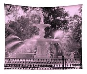 Forsyth Park Fountain In Pink Tapestry
