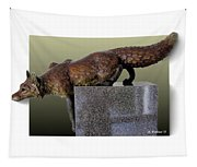 Fox On A Pedestal Tapestry