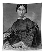 Frances Sargent Osgood (1811-1850). American Poet. Engraving From A Painting By Alonzo Chappel, C1873 Tapestry