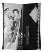 Fred And Ginger In Black And White Tapestry