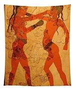 Fresco Of Boxing Children Tapestry