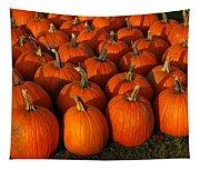 Fresh From The Farm Orange Pumpkins Tapestry