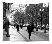 Friday In The City Tapestry