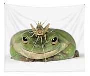 Frog And Grasshopper Tapestry