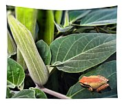 Frog And Moonflower Tapestry
