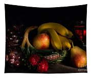 Fruit Still Life With Wine Tapestry