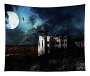 Full Moon Over Hard Time - San Quentin California State Prison - 7d18546 Tapestry