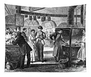 Fulton Fish Market, 1870 Tapestry