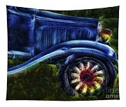 Funky Old Car Tapestry