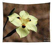 Funny Face Flower Tapestry