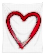 Furry Heart - Symbol Of Love Tapestry