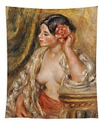 Gabrielle A Sa Coiffure Tapestry by Pierre Auguste Renoir