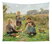 Gathering Flowers Tapestry