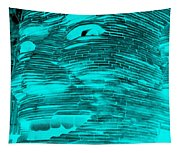 Gentle Giant In Negative Turquois Tapestry