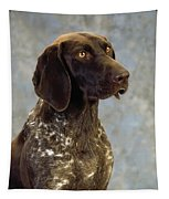 German Pointer Portrait Of A Dog Tapestry