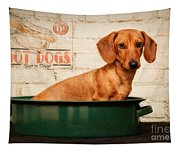 Get Your Hot Dogs Tapestry