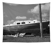 Ghost Crab Boat Tapestry