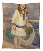 Girl In A Sailor Suit Tapestry