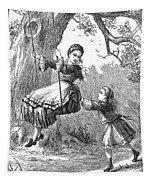 Girl On Swing, 1873 Tapestry
