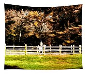 Girl Riding Horse Tapestry